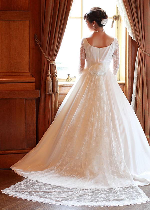 袖付ウェディングドレス