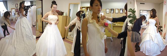 オーダーウェディングドレス 仮縫い