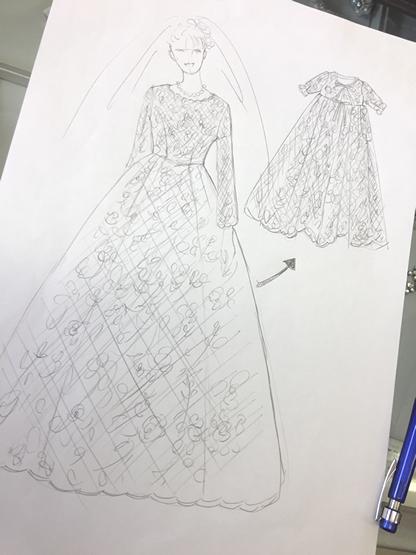 べっぴんさん ウェディングドレス
