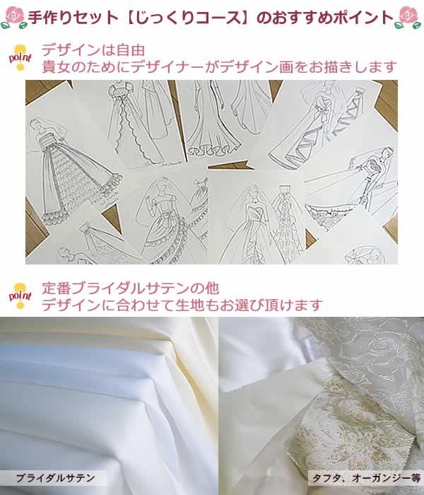 ウエディングドレス手作りキット【オリジナルデザイン】