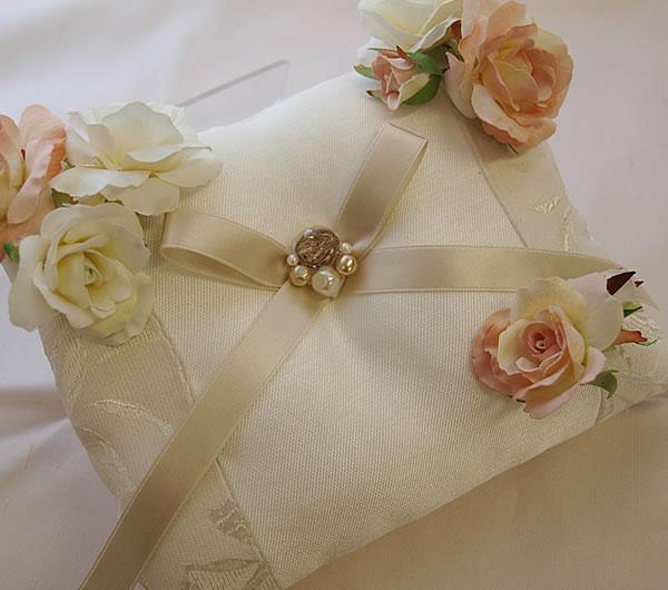 手作りキット用花パーツ【サーモンピンク&ホワイト】