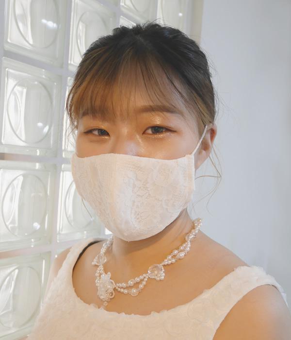 花嫁マスク&マスクケースセット【エレガントマリエ】<メール便可>
