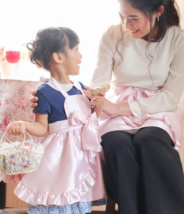 ドレスエプロン【アンベリール・ピンク】