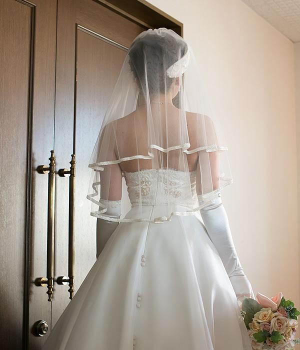 ウエディングベール ショート丈【リリア】