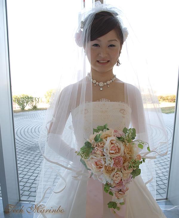 ウェディングベール ロング丈【リリア】(300cm)