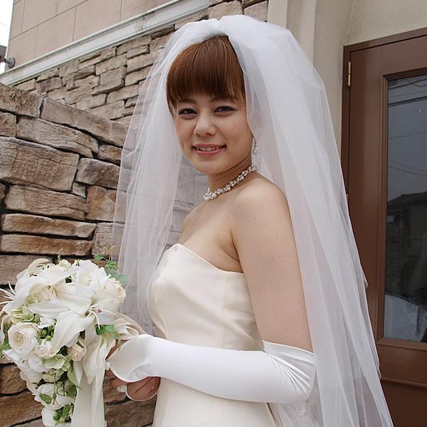 ウェディングベール ミドル丈【ティアード】