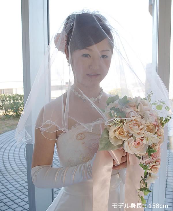 ウェディングベール ショート丈【ふわふわメロウ】