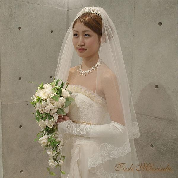 ウェディングロングベール【花の妖精】(250cm)