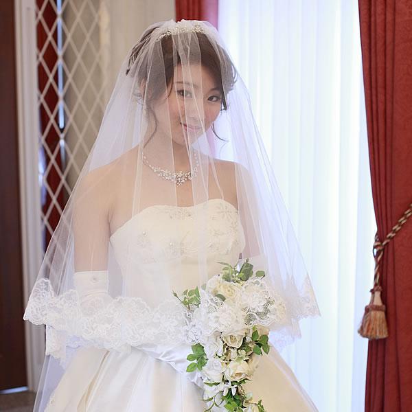 ウエディングベール ロング丈【花の妖精】(300cm)