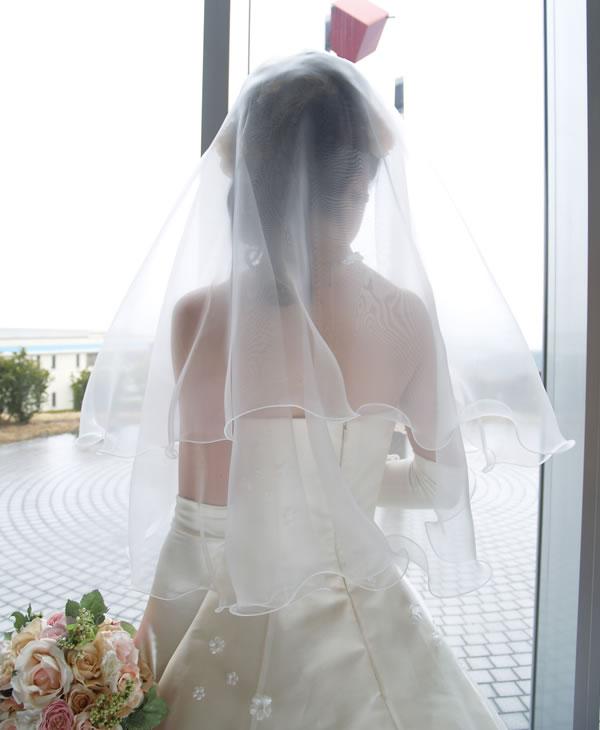 ウェディングベール ショート丈【グラスオーガンジー】