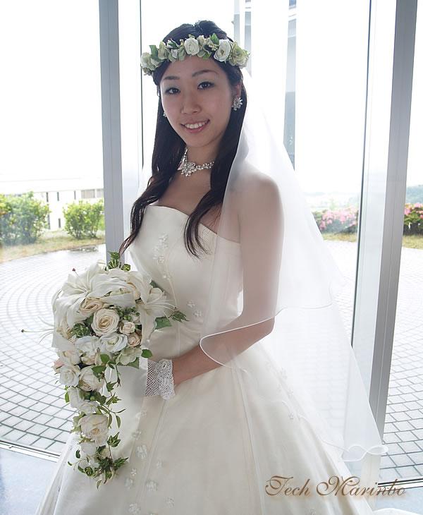 ウェディングベール ミドル丈【グラスオーガンジー】