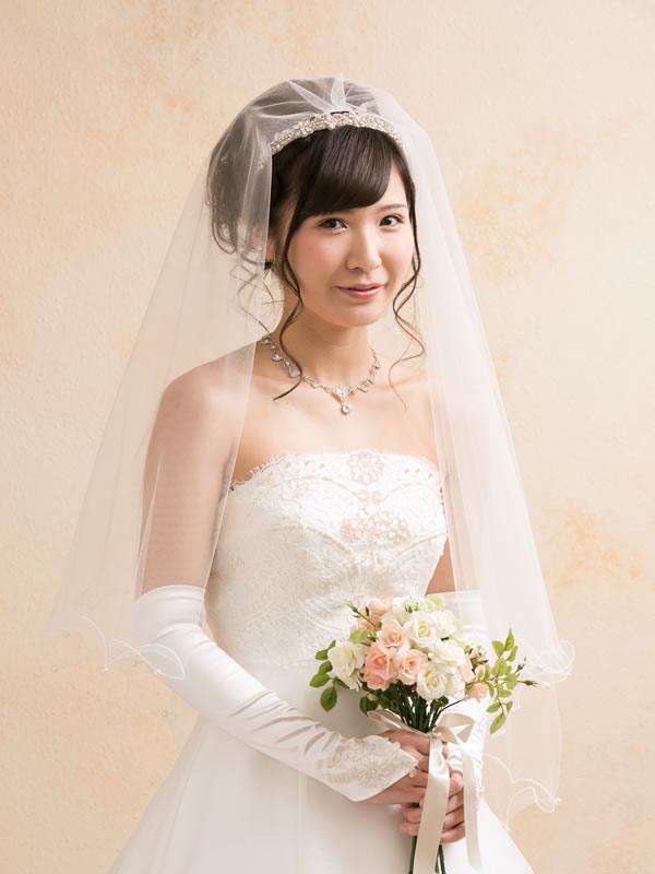 ウェディングベール ミドル丈【リッシェル】