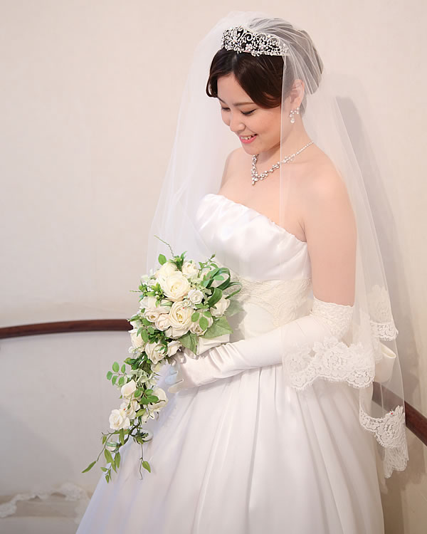 ウェディングベール ロング丈【ジュリエット】(300cm)