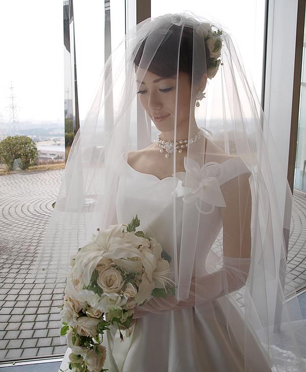 ウェディングベール ロング丈【シンプル】(300cm)