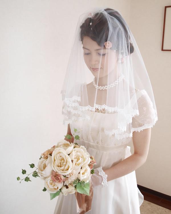ウェディングベール ベリーショート丈【ティンク】