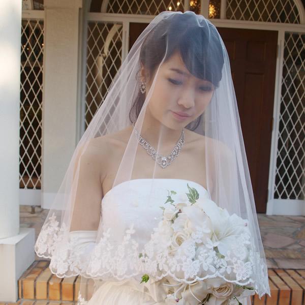 ウェディングベール ミドル丈【メリッサ】