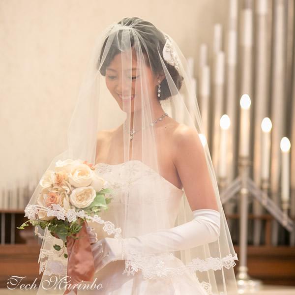 ウェディングベール ミドル丈【プリエ】