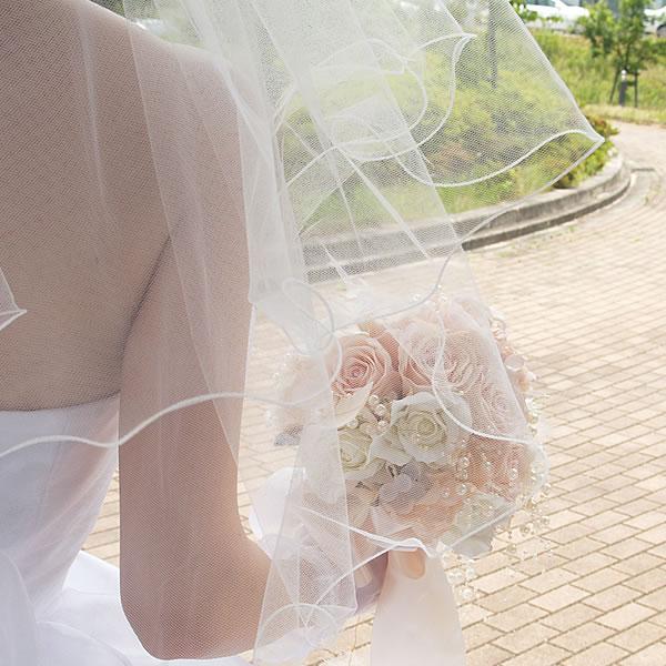 <送料無料>ベール&グローブセット【メロウショートベール 肘下グローブ】
