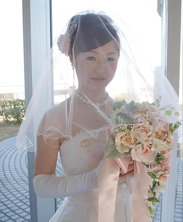 ウエディングベール ショート丈【ふわふわメロウ】